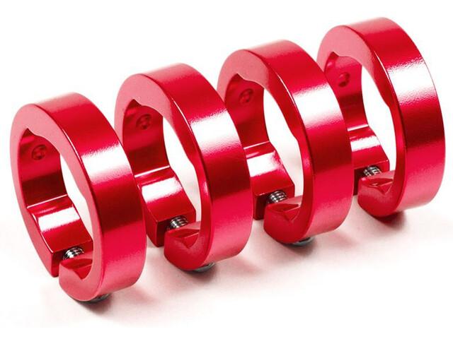 Sixpack bague de serrage de rechange - aluminium rouge